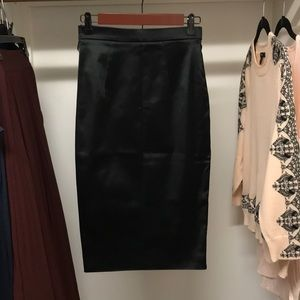 D & G high waisted satin skirt new without tags